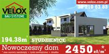 Nowoczesny dom - 2450 zł/m2